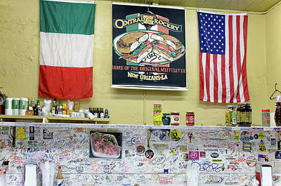 Photograph - Central Grocery - The Handwriting On The Wall by David Lawson