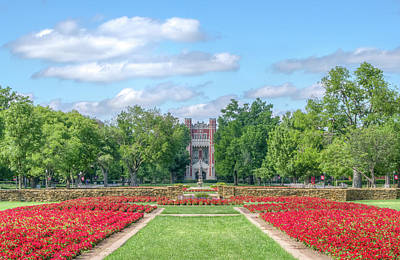 Oklahoma University Wall Art - Photograph - Central Grounds And Gardens At University Of Oklahoma by Ken Wolter