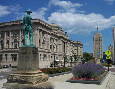 Photograph - Central Library Milwaukee Street View by Anita Burgermeister