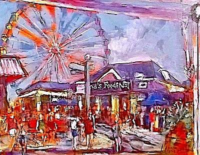 Painting - Central Mall by Les Leffingwell