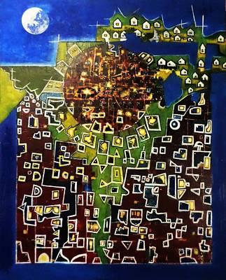 Painting - Central Mind by Adalardo Nunciato  Santiago