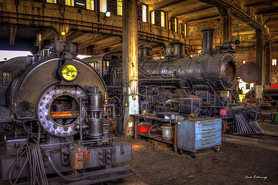 Photograph - Central Of Georgia Locomotive Train Shop Savannah Georgia Art by Reid Callaway