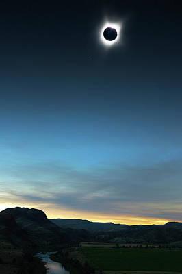 360 Wall Art - Digital Art - Central Oregon Eclipse Totality by Danielle Denham