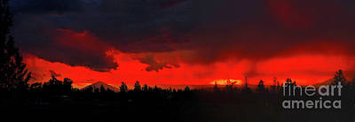 Wall Art - Photograph - Central Oregon Sunset by Gary Wing