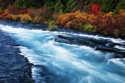 Black Butte Ranch Photograph - Central Oregon's Wild And Scenic Metolius River Rushes Over Wizard Falls. by Larry Geddis