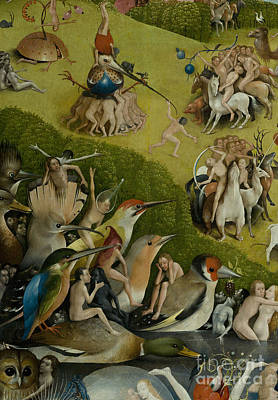 Fantastical Painting - Central Panel From The Garden Of Earthly Delights by Hieronymus Bosch
