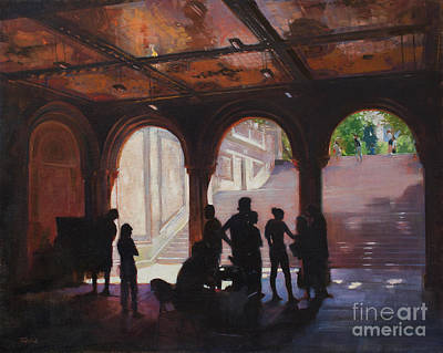 Wall Art - Painting - Central Park Bethesda Arcade Photo Shoot by Patrick Saunders