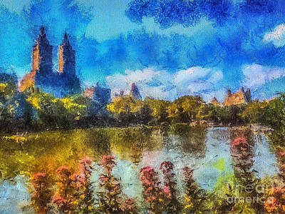 Painting - Central Park by Betsy Foster Breen