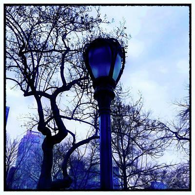 Digital Art - Central Park Blues by Gina Harrison
