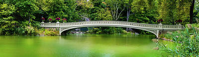 Photograph - Central Park Bow Bridge Panoramic by TL Mair