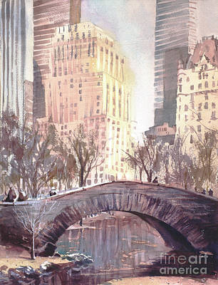 Painting - Central Park Bridge by Ryan Fox