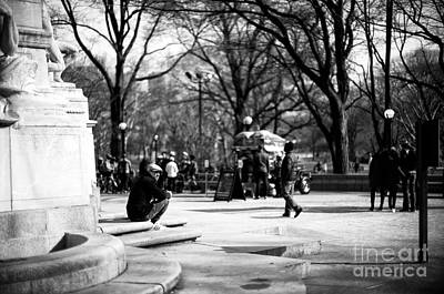 Photograph - Central Park Entrance by John Rizzuto