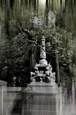 Victorian Era Digital Art - Central Park Entrance by Paulette B Wright