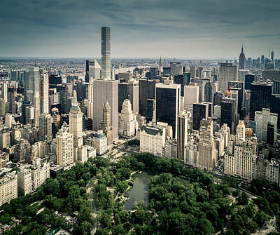 Photograph - Central Park From Above 2 by Andrew Mason