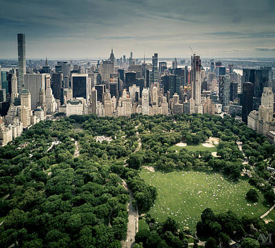 Photograph - Central Park From Above by Andrew Mason
