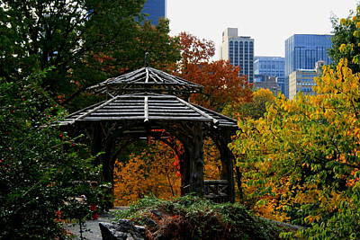 Central Park Gazebo Art Print by Christopher Kirby