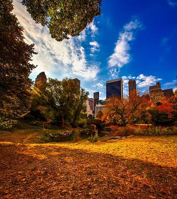 Central Park In Autumn Print by Mountain Dreams