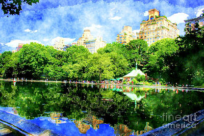 Toy Boat Photograph - Central Park by Julie Lueders