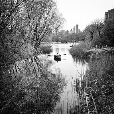 Photograph - Central Park Lake Ladder by Dave Beckerman