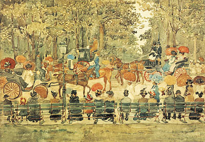 Painting - Central Park, by Maurice Prendergas
