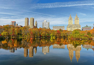 Nyc Digital Art - Central Park by Maye Loeser