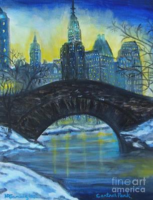 Central Park Art Print by Nancy Rucker