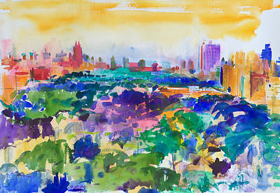 Fluid Painting - Central Park New York by Peter Graham