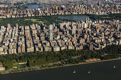 Photograph - Central Park Nyc Aerial View by Susan Candelario