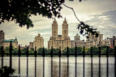 Clouds Rights Managed Images - Central Park Post Card Royalty-Free Image by Robert Alsop