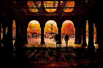 Central Park Nyc  Under The Bridge Art Print by Jeff Burgess
