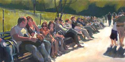 Central Park Pathway Art Print by Merle Keller