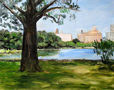 Painting - Central Park Reservoir by Robert Holden