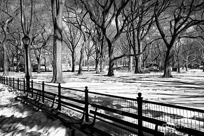Winter Sleep Photograph - Central Park Snow by John Rizzuto