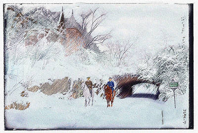 Digital Art - Central Park Snow by William Sargent