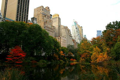 Central Park South Print by Christopher Kirby
