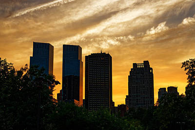 Photograph - Central Park Sunset by M Nuri Shakoor