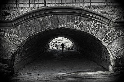 Photograph - Central Park Tunnel by Alan Raasch