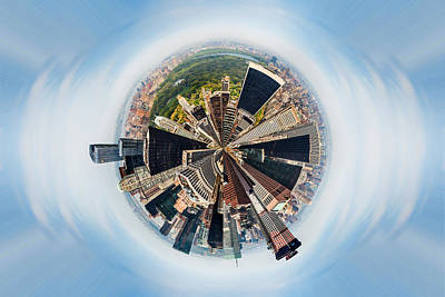 Circular Photograph - Eye Of New York by Az Jackson