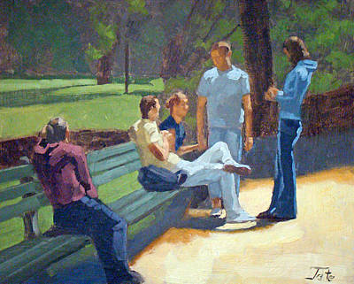 Painting - Central Park Visit by Tate Hamilton