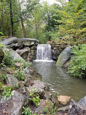 Photograph - Central Park Waterfall 2 by Rob Hans