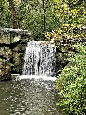 Photograph - Central Park Waterfall by Rob Hans