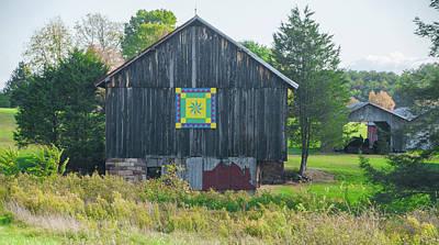 Quilts Digital Art - Central Pennsyvania Barn by Bill Cannon