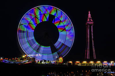 Photograph - Central Pier Blackpool by Steev Stamford