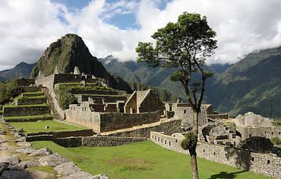 Photograph - Central Plaza At Machu Picchu by Aidan Moran