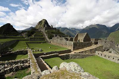 Photograph - Central Plaza At Machu Picchu, Peru by Aidan Moran