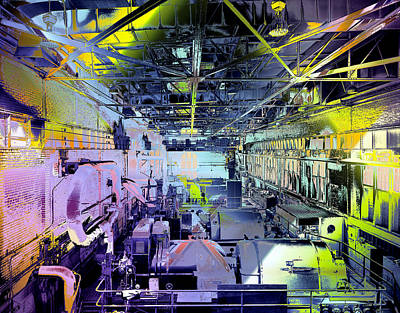Grunge Central Power Station Art Print by Robert G Kernodle