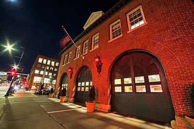 Photograph - Central Square Fire Station Cambridge Ma Mass Ave by Toby McGuire