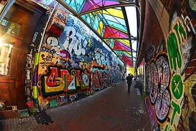 Photograph - Central Square Graffiti Cambridge Ma by Toby McGuire