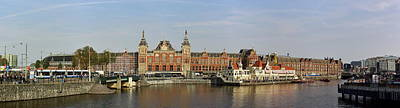Photograph - Central Station Panorama. Amsterdam by Jouko Lehto