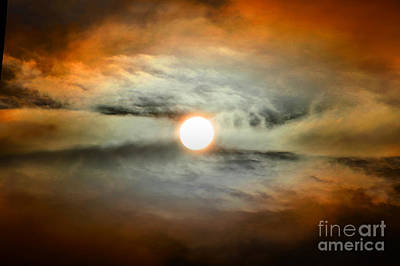 Photograph - Central Sun Clouds by Wernher Krutein